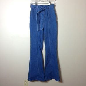 Express Bell Flare Stretch Jeans super High Rise 4